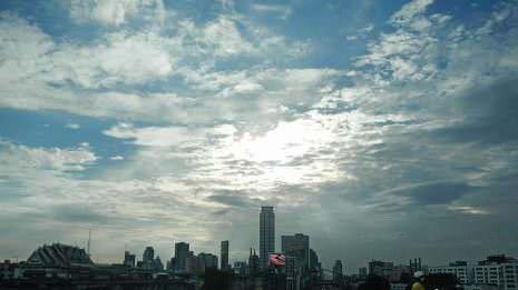 Bangkok in der Dämmerung