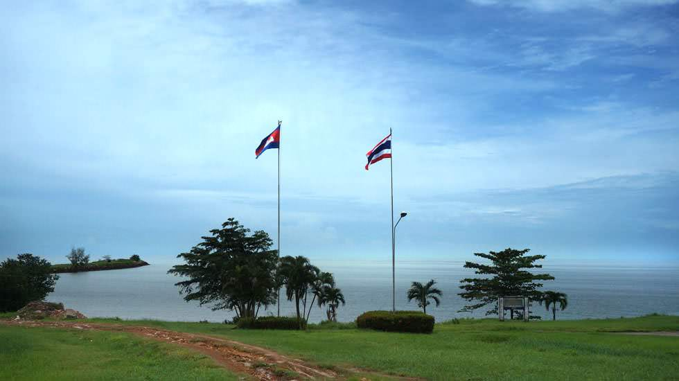 Die Grenze von Thailand und Kambodscha