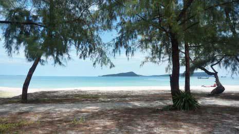 Strand vor dem Hostel