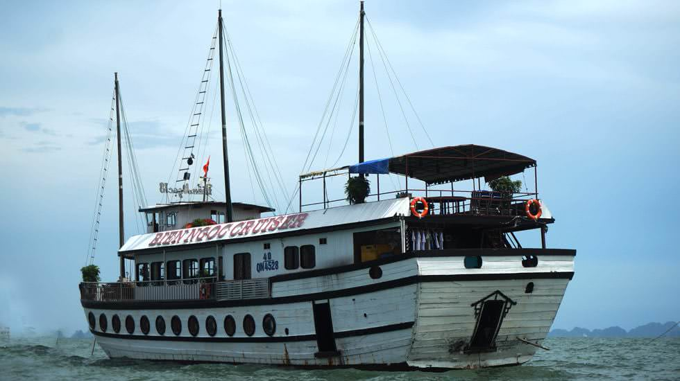 Privates Boot, das uns nach Ha Long bringen wird