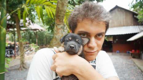 Ich mit Hundebaby