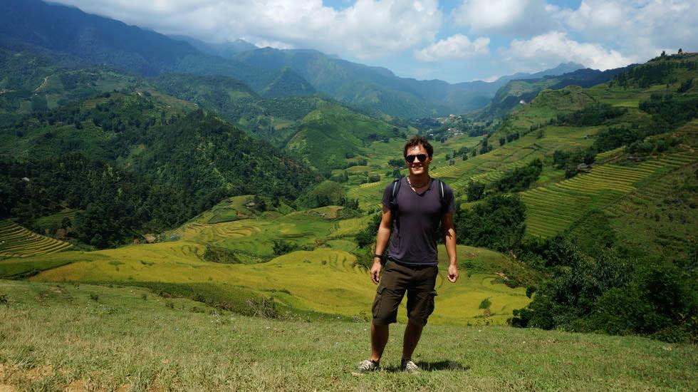 Ich beim Wandern in der Nähe von Sapa