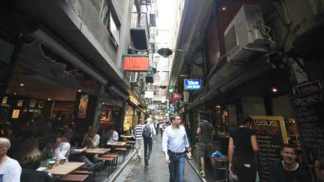 Gasse in Melbourne