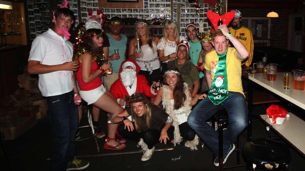 Weihnachten im Pub in Neuseeland