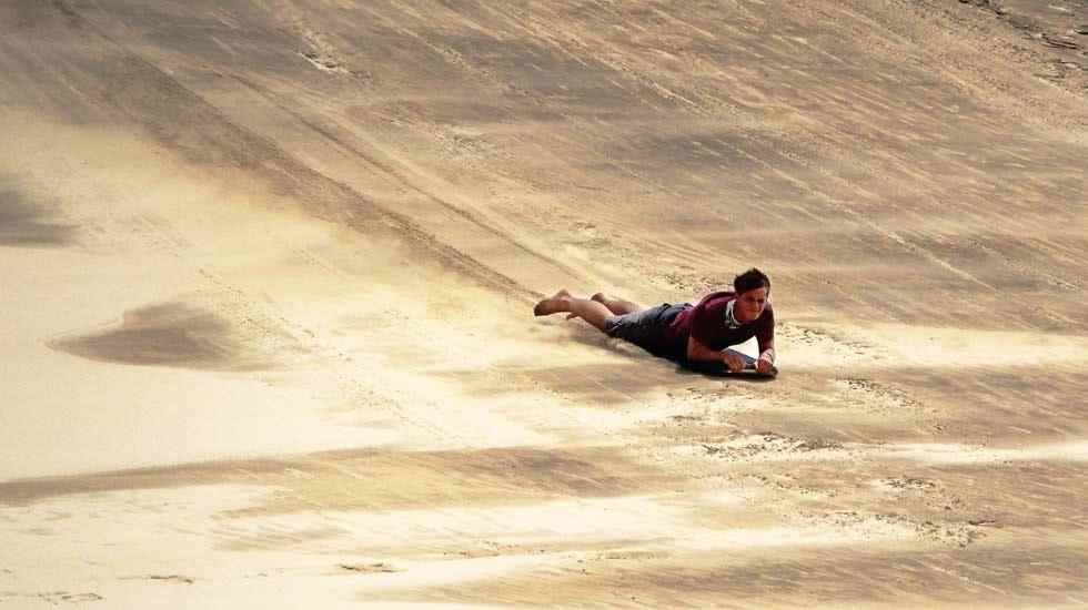 Ich beim Dünensurfen