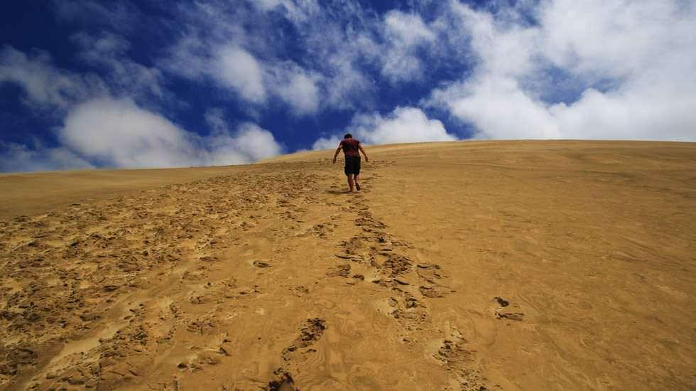 Ich beim Dünenwandern