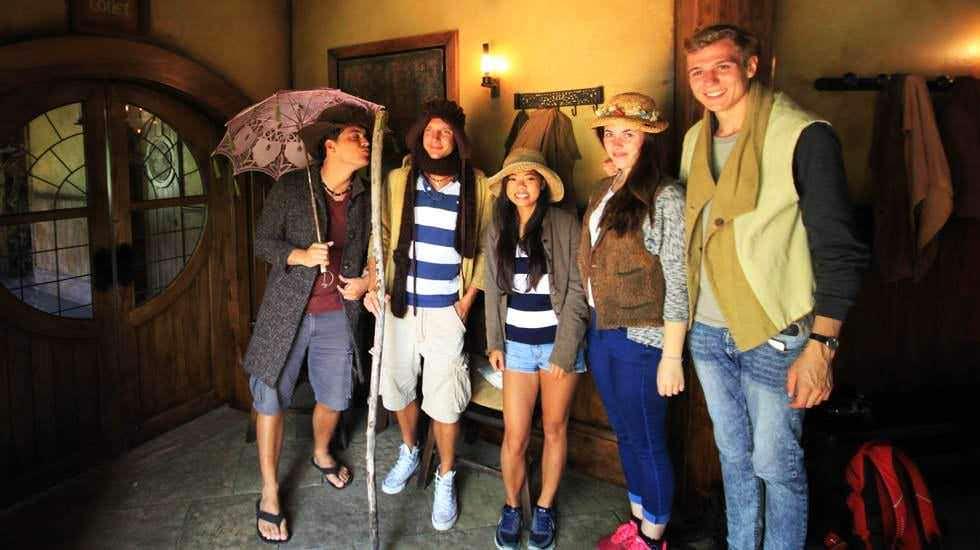 Unsere Gruppe als Hobbits