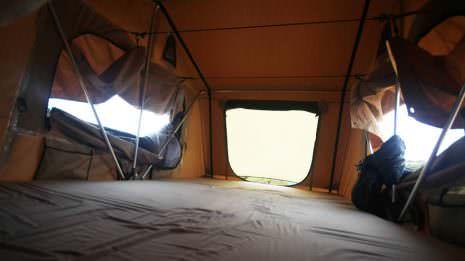 Das Zelt von innen