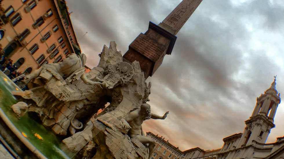 Denkmal am Piazza Navona
