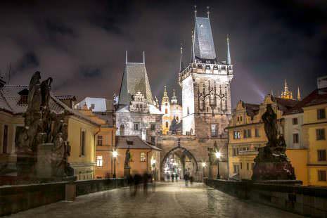 Prag Innenstadt bei Nacht