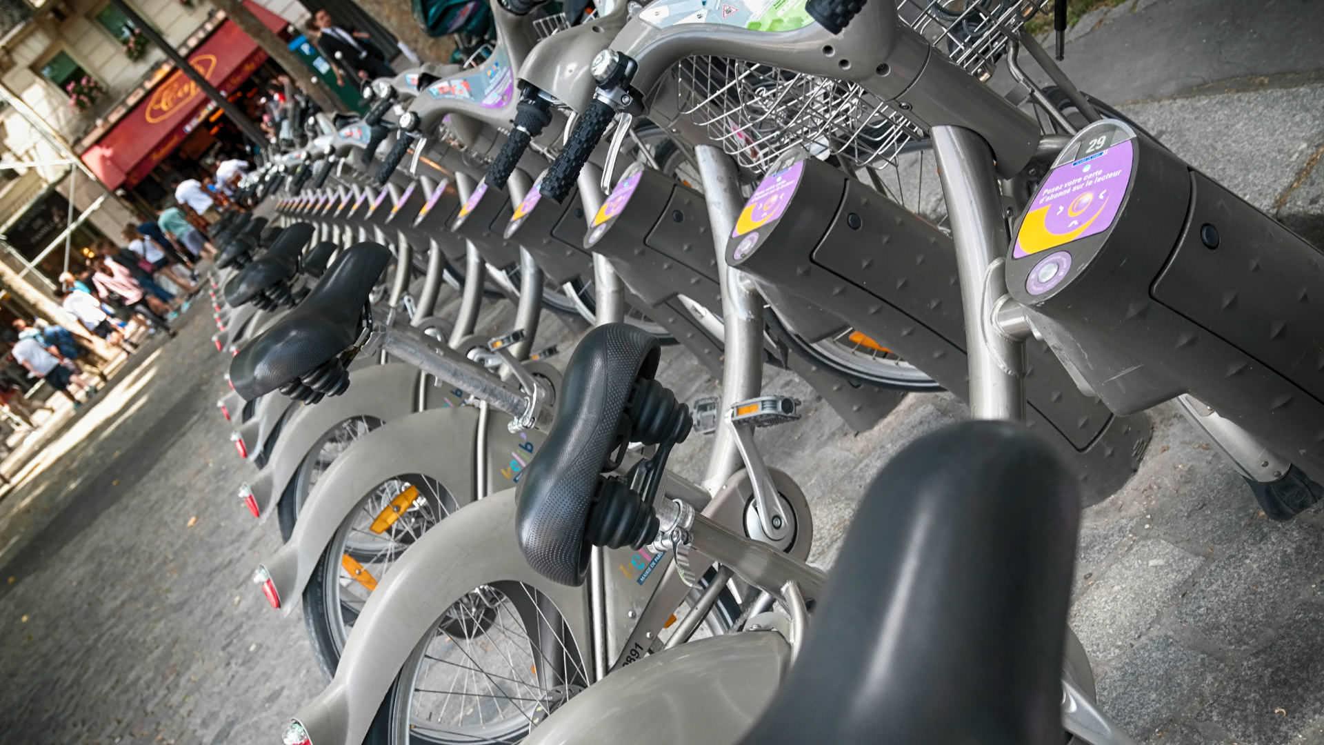 Vélib-Fahrräder in Paris