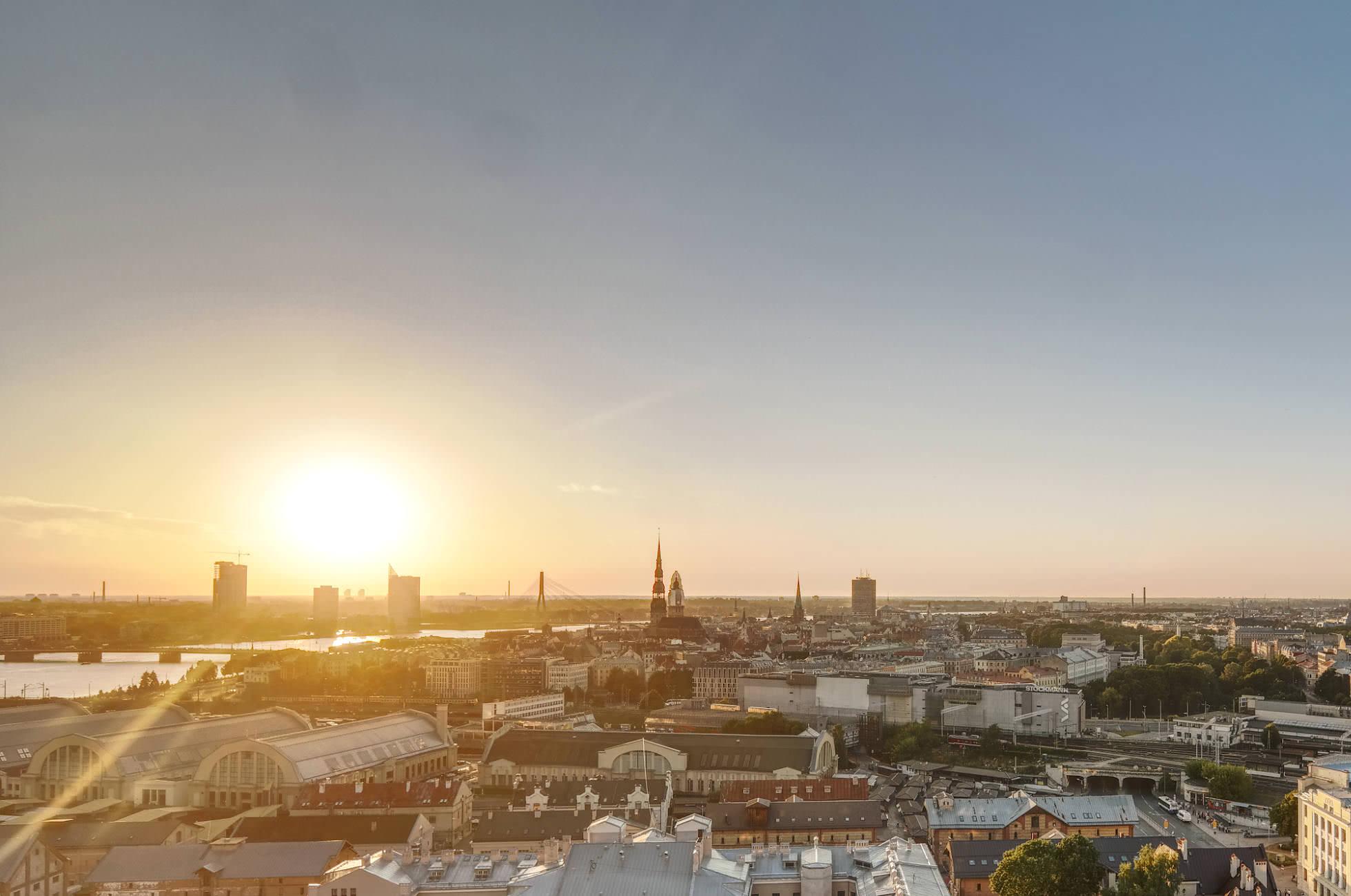 Sonnenuntergang Riga