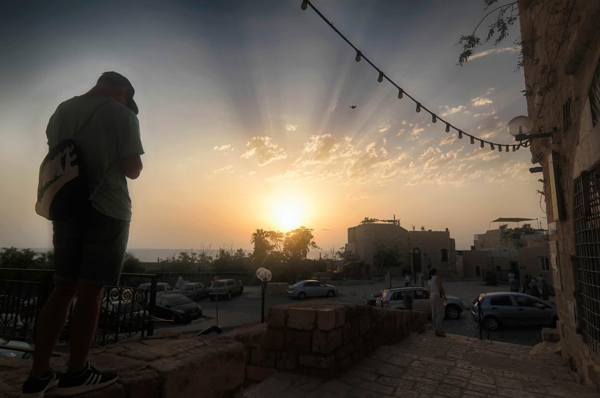 Sonneuntergang Jaffa Tel Aviv