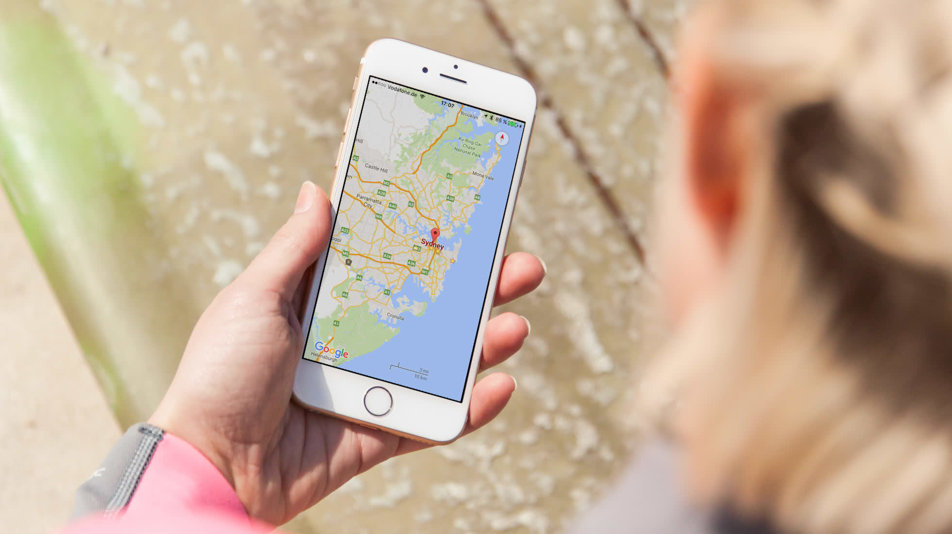 App Reisen Navigation Google Maps