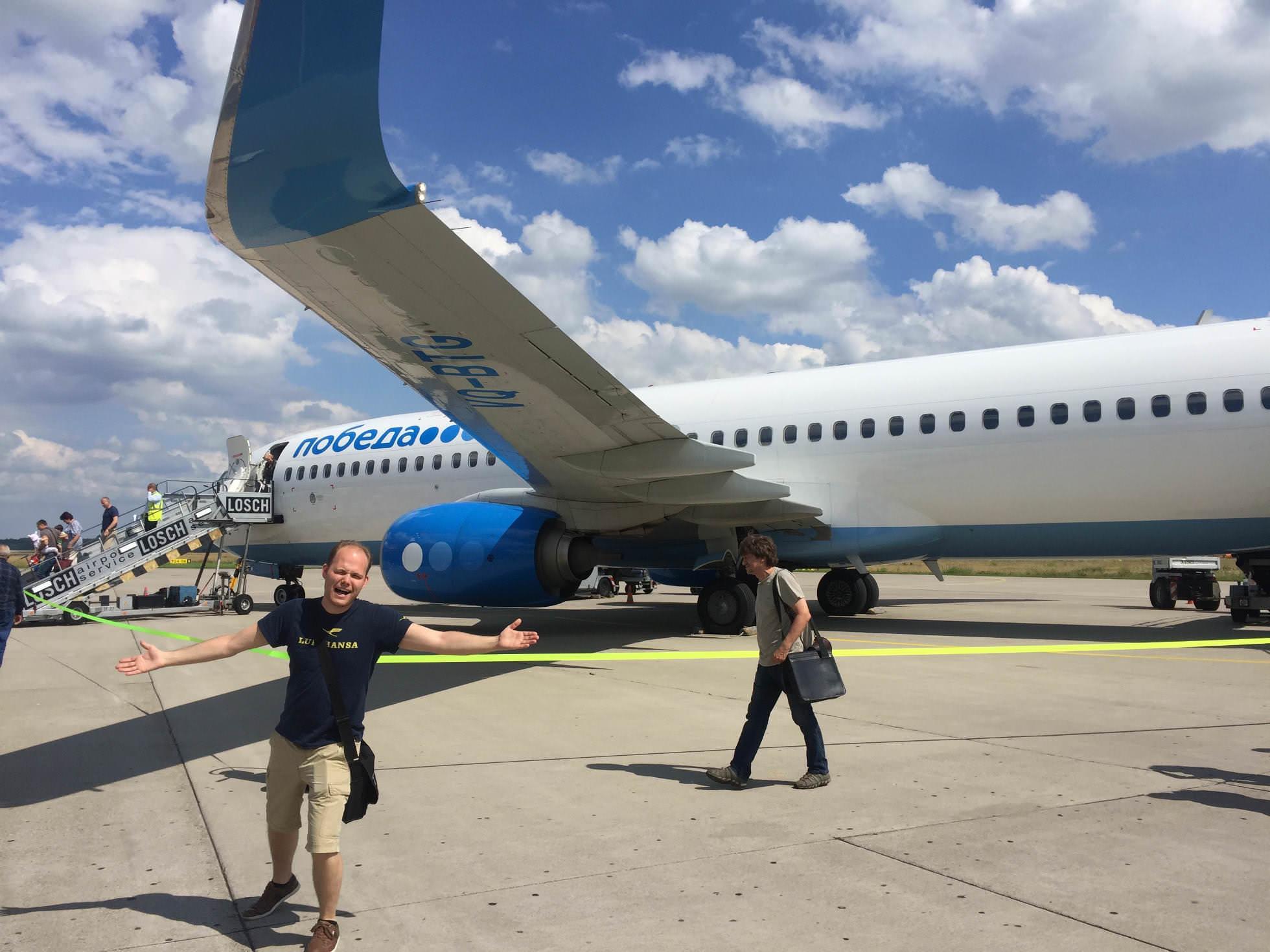 Pobeda Flugzeug Vnukovo Airport