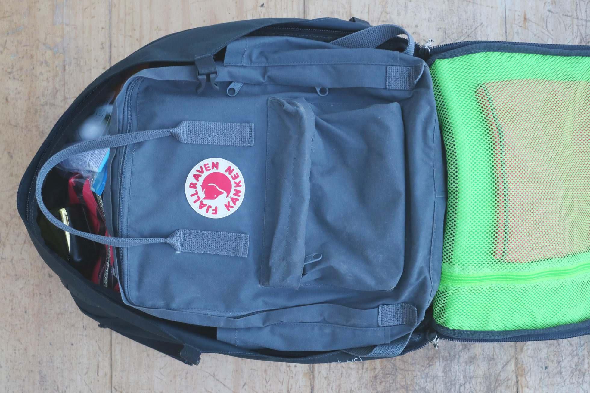 Daypack im Handgepäck