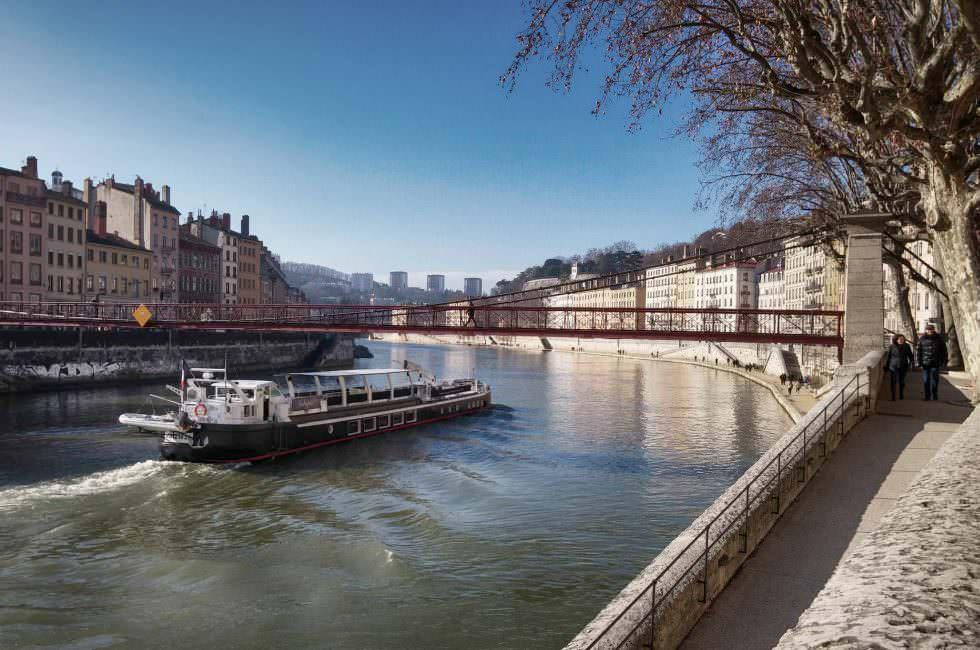 Rhône und Saône in Lyon