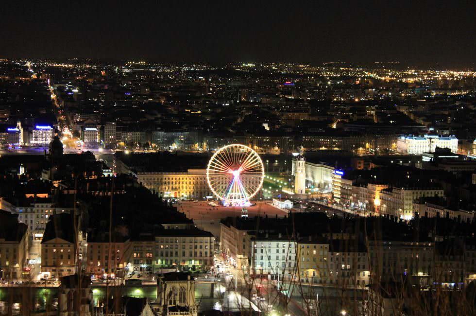 Lyon Aussicht bei Nacht