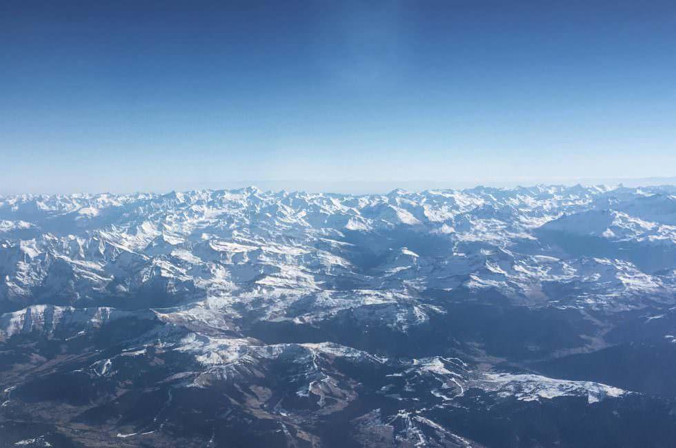 Alpen in Richtung Lyon