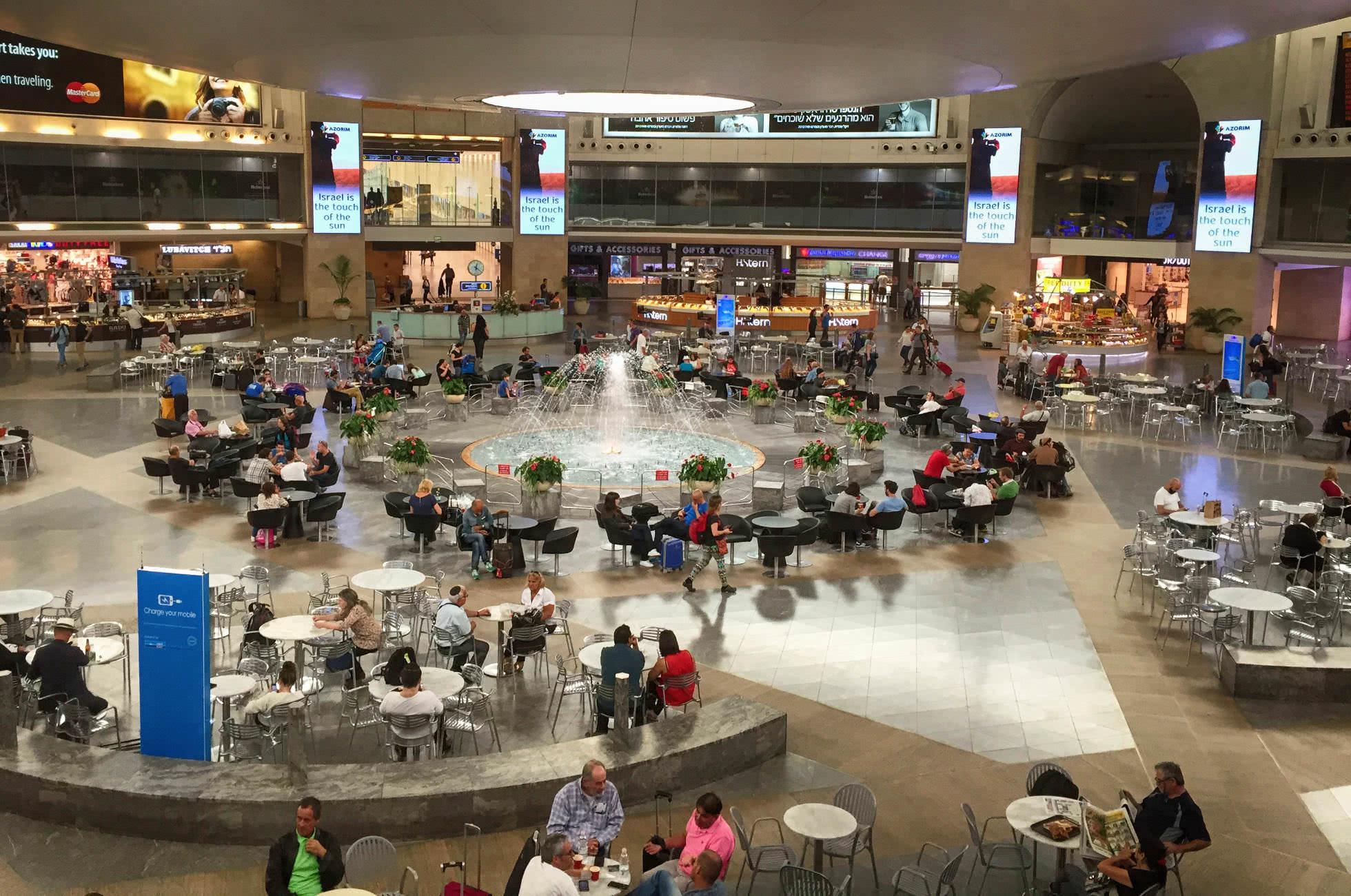 Abflughalle Flughafen Ben Gurion