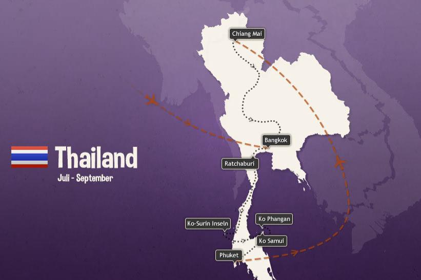Reiseplanung Thailand