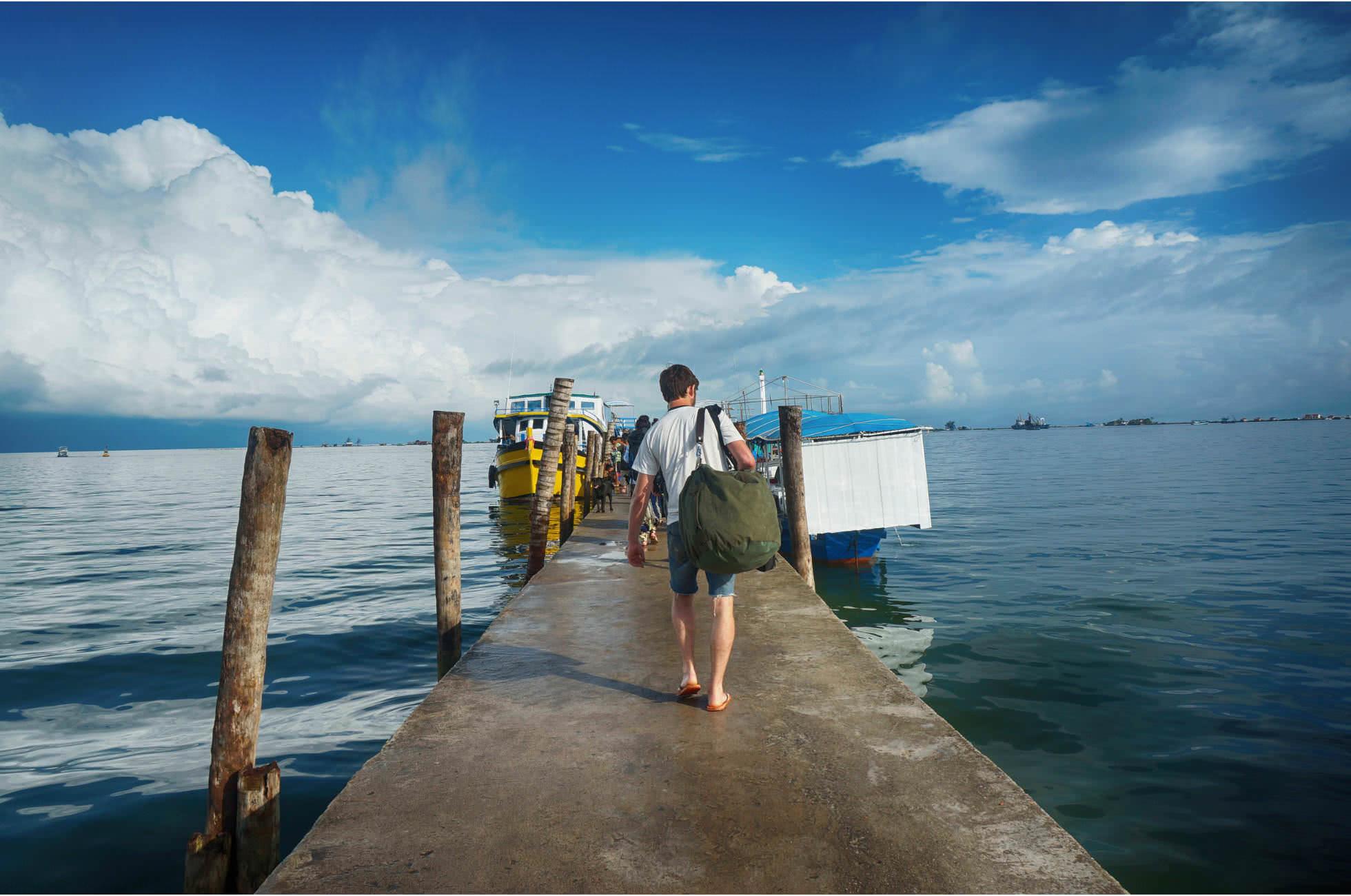 Insel Steg Boot