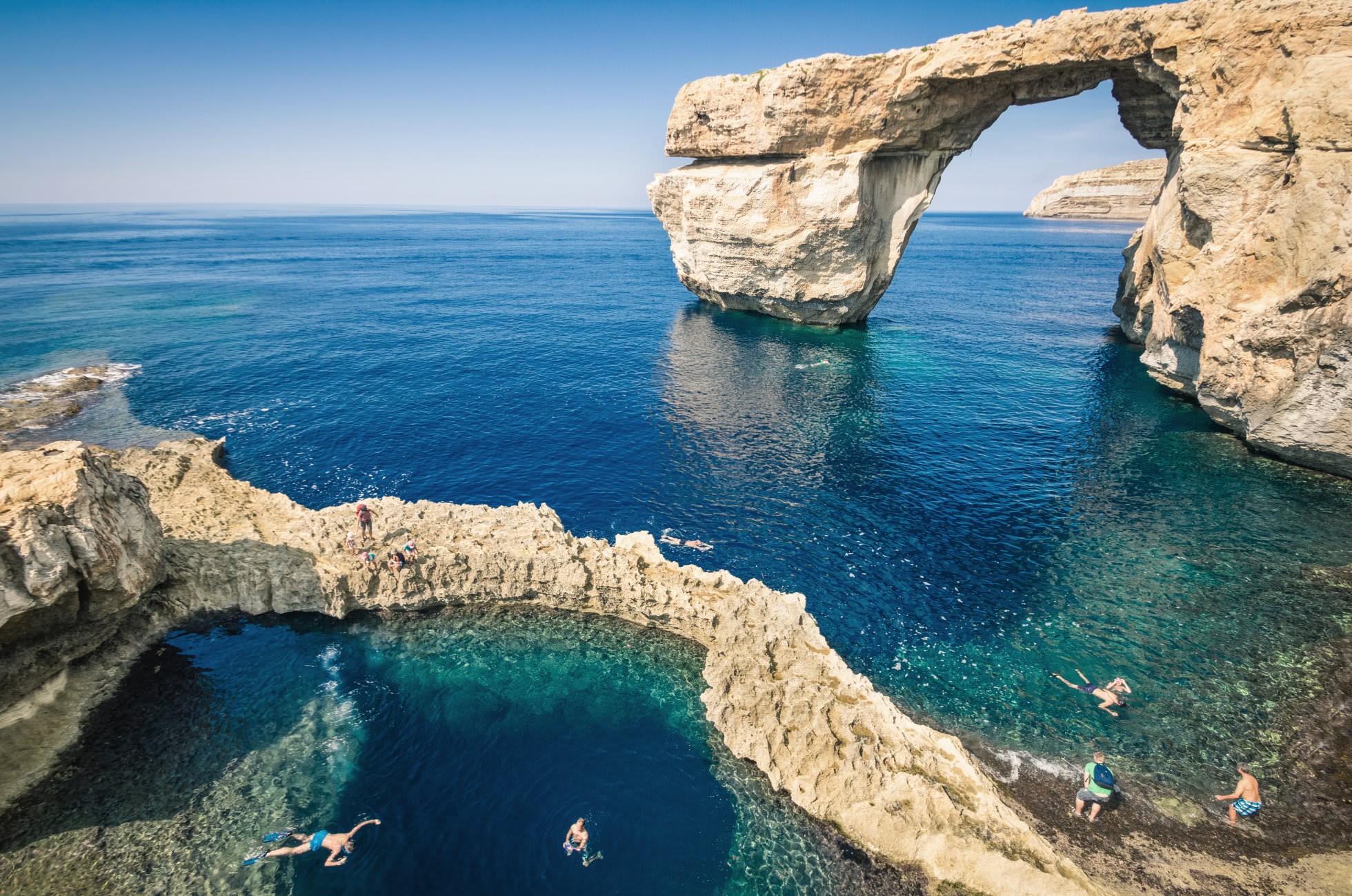 Azure Window und Blue Hole auf Gozo