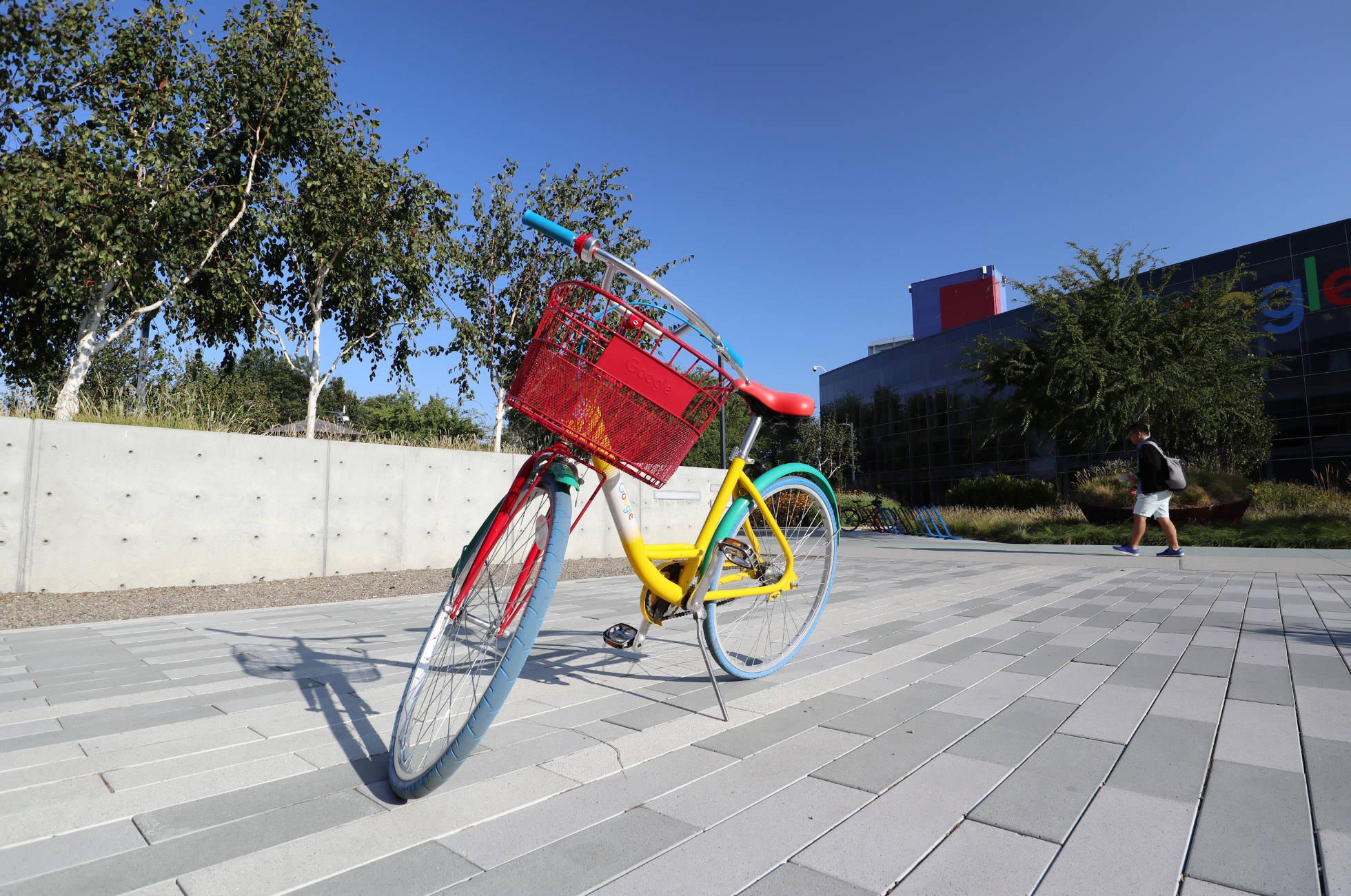 Google Fahrrad Silicon Valley