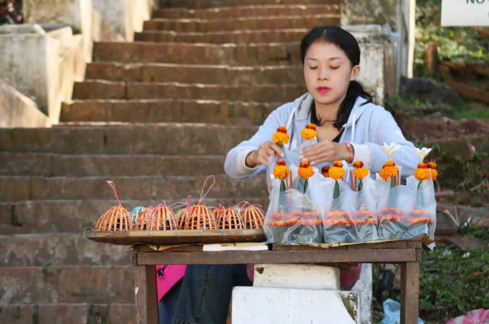Verkäufer Laos