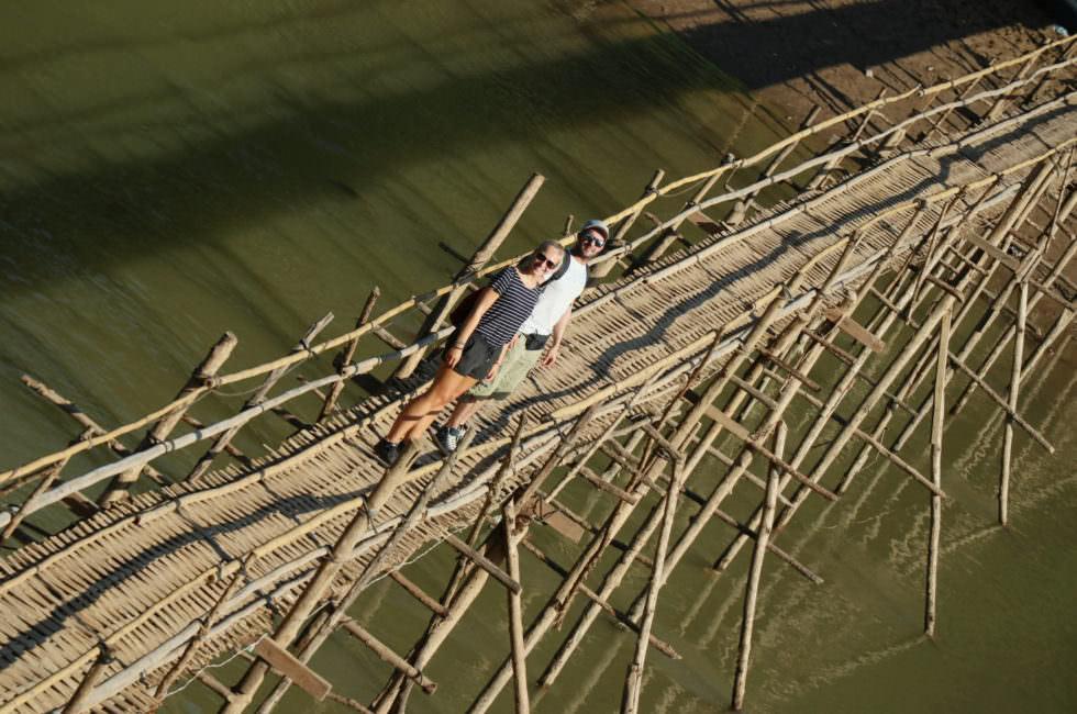Bamboo Bridge Luang Prabang