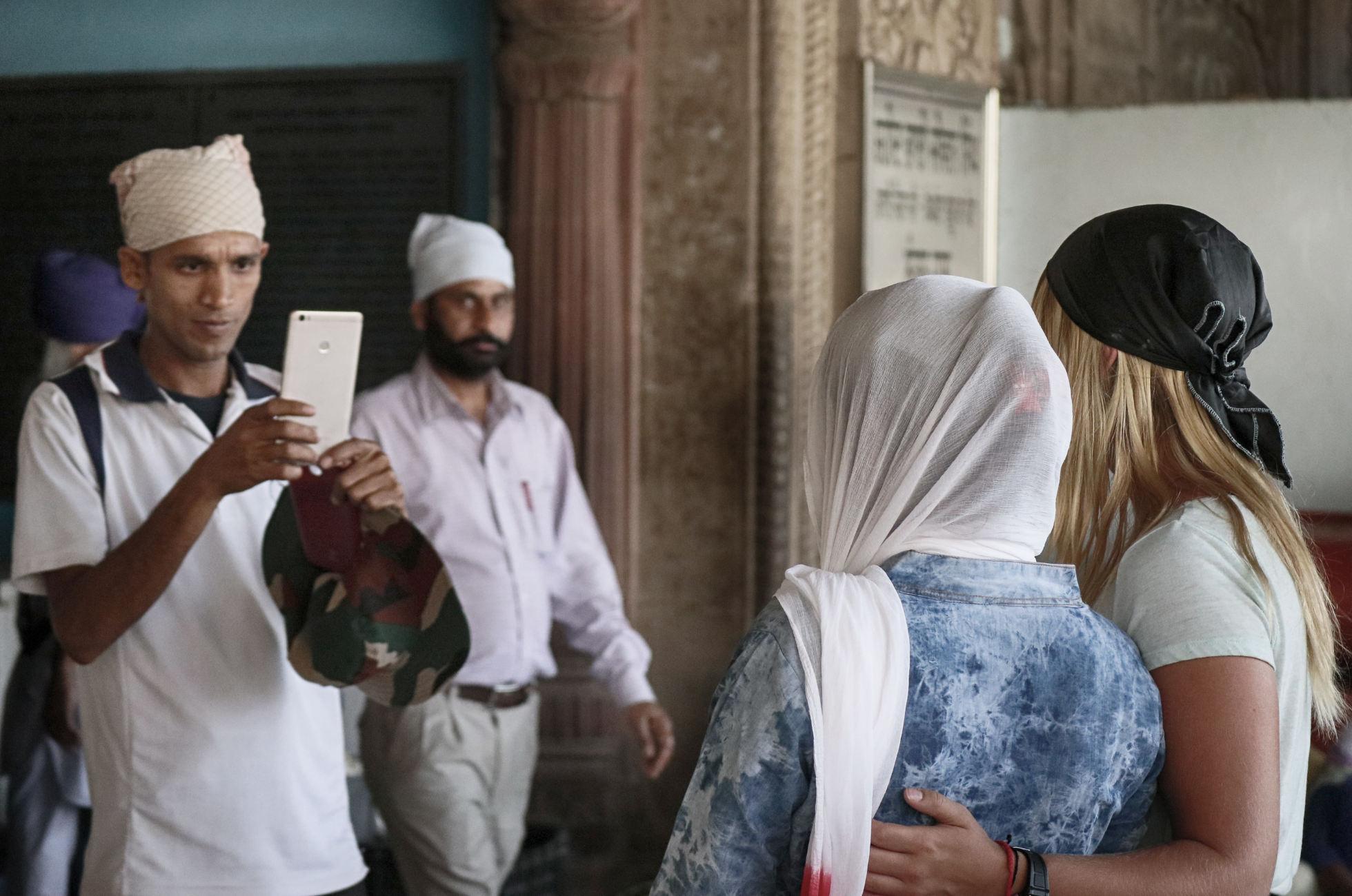 Weiße Touristen Indien Foto