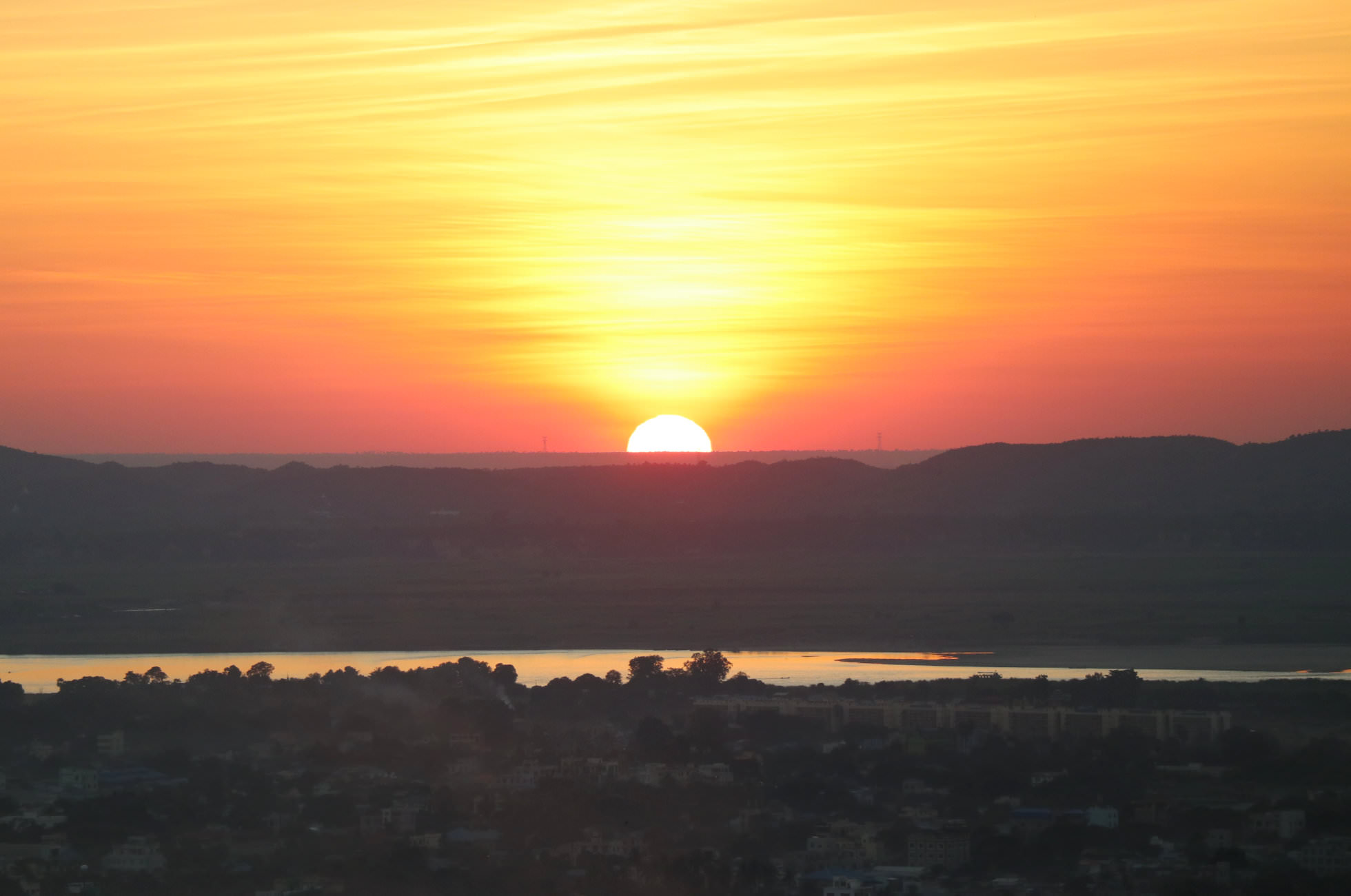 Mandalay Hill Sonnenuntergang