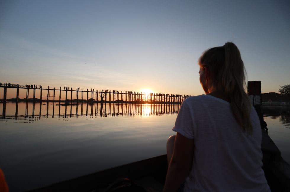 Sonnenuntergang U-Bein-Brücke