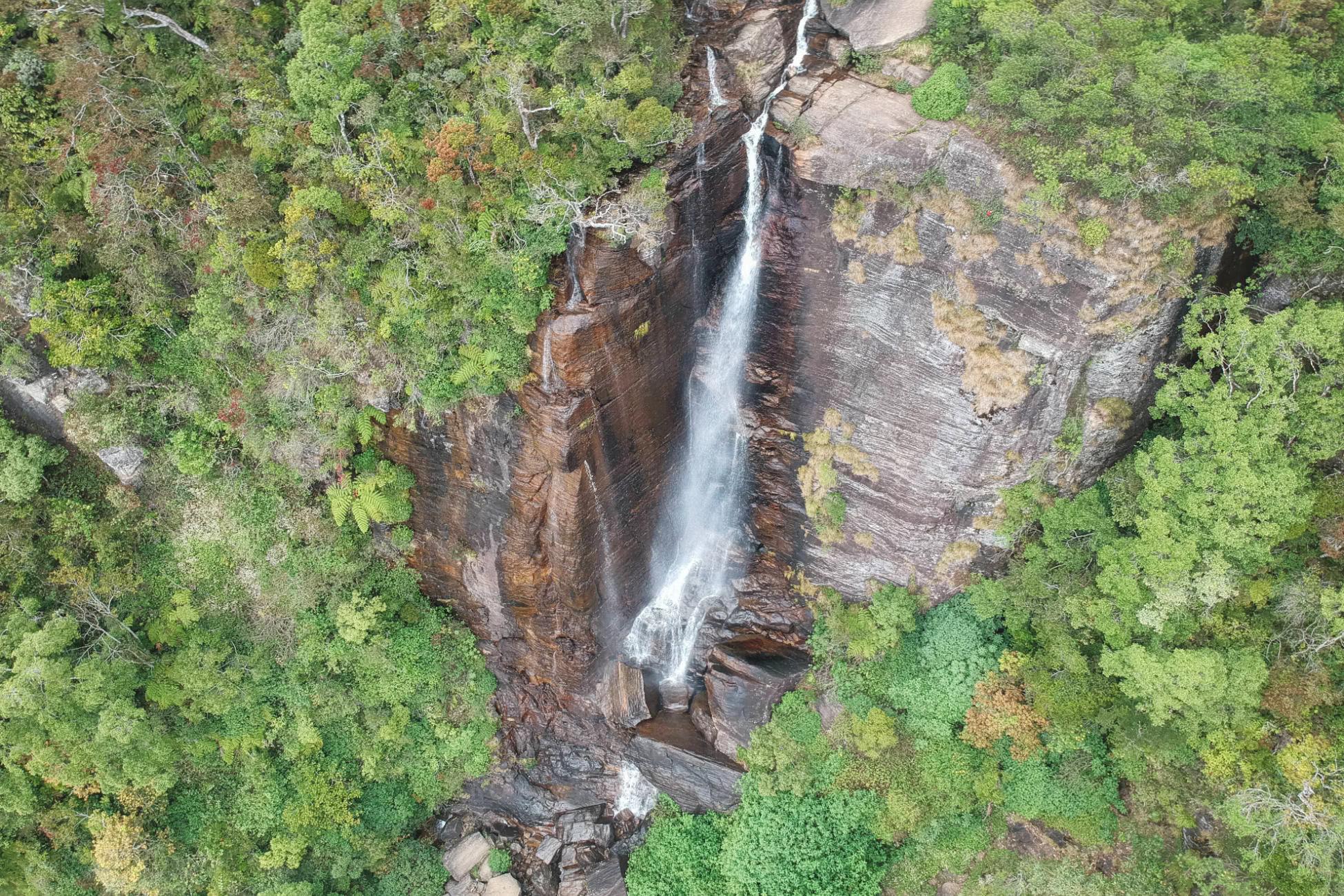 Lover's Leap Wasserfall in Nuwara Eliya