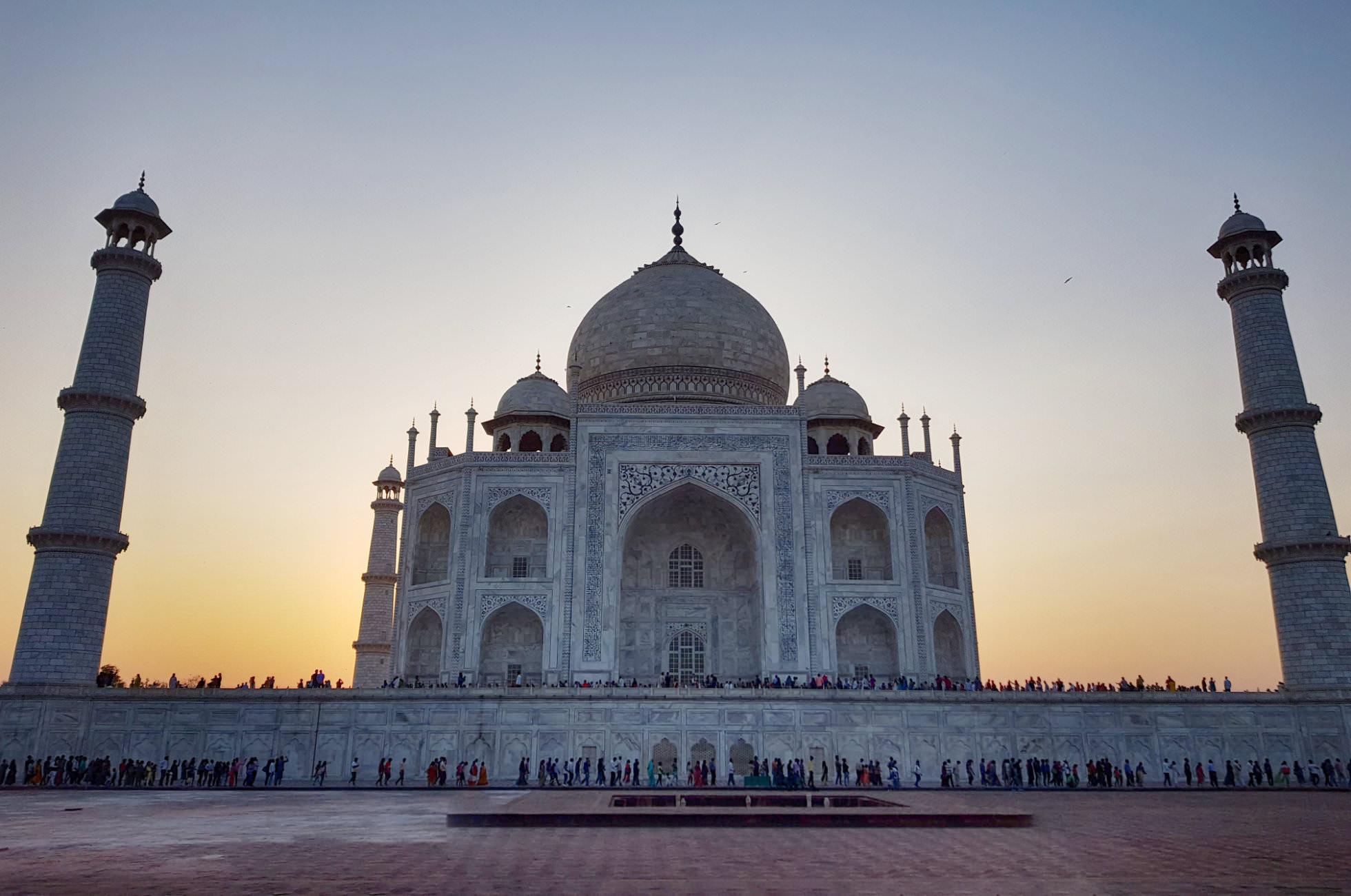 Sonnenuntergang Taj Mahal