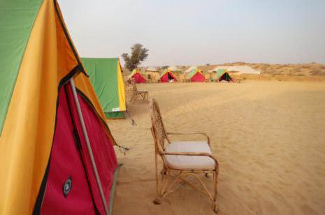 Übernachtung Thar Wüste
