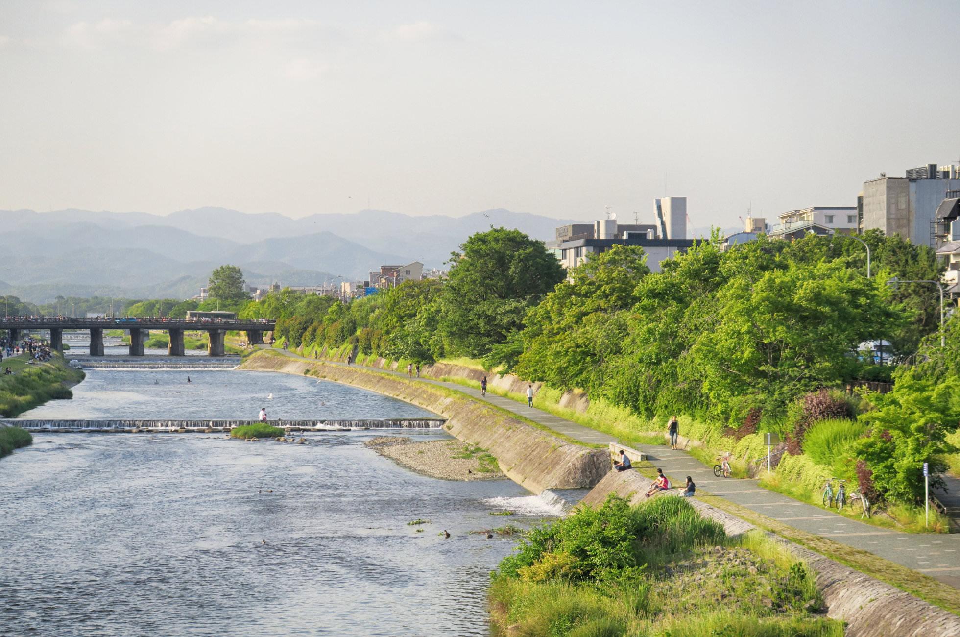 Kamo Fluss Kyoto