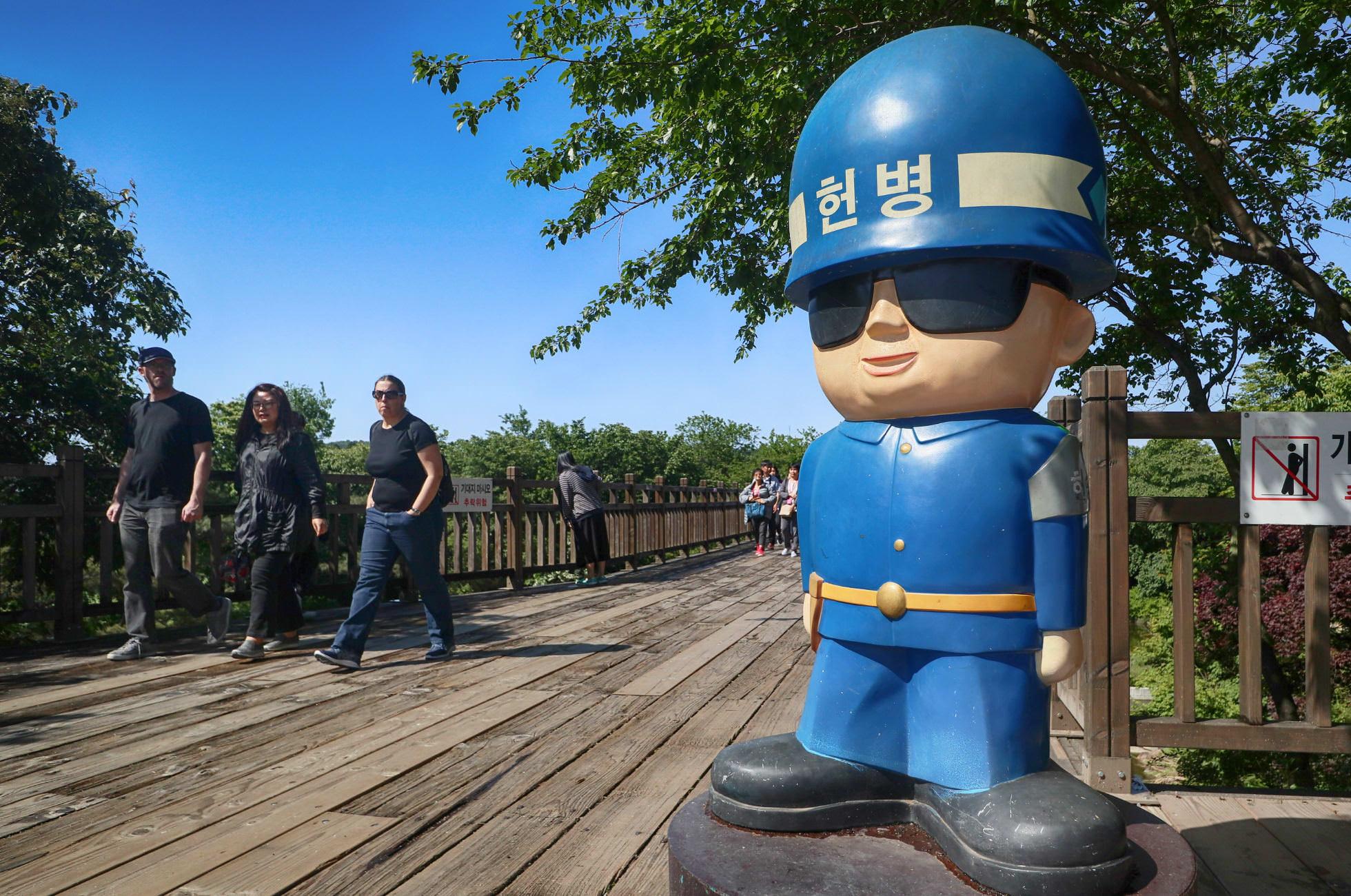 Nordkorea DMZ Polizist