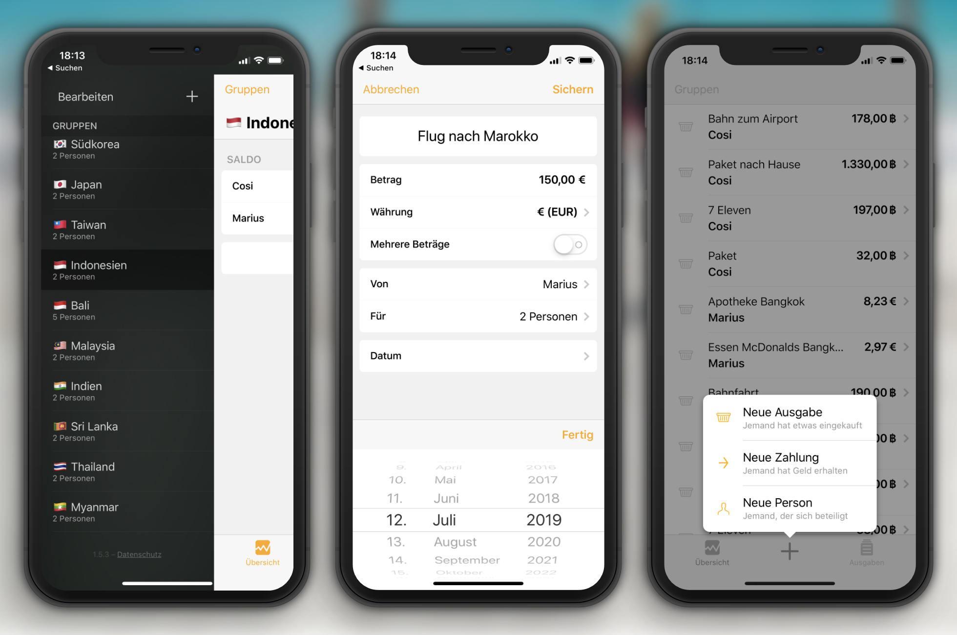 Reisekosten App Splid