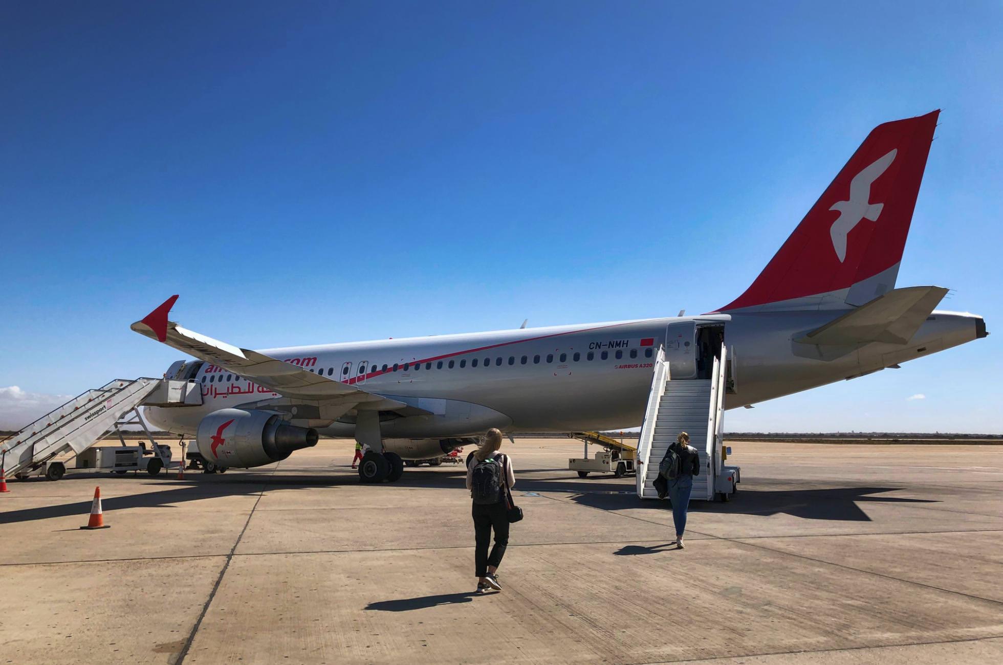 AirArabia Flugzeug Marokko