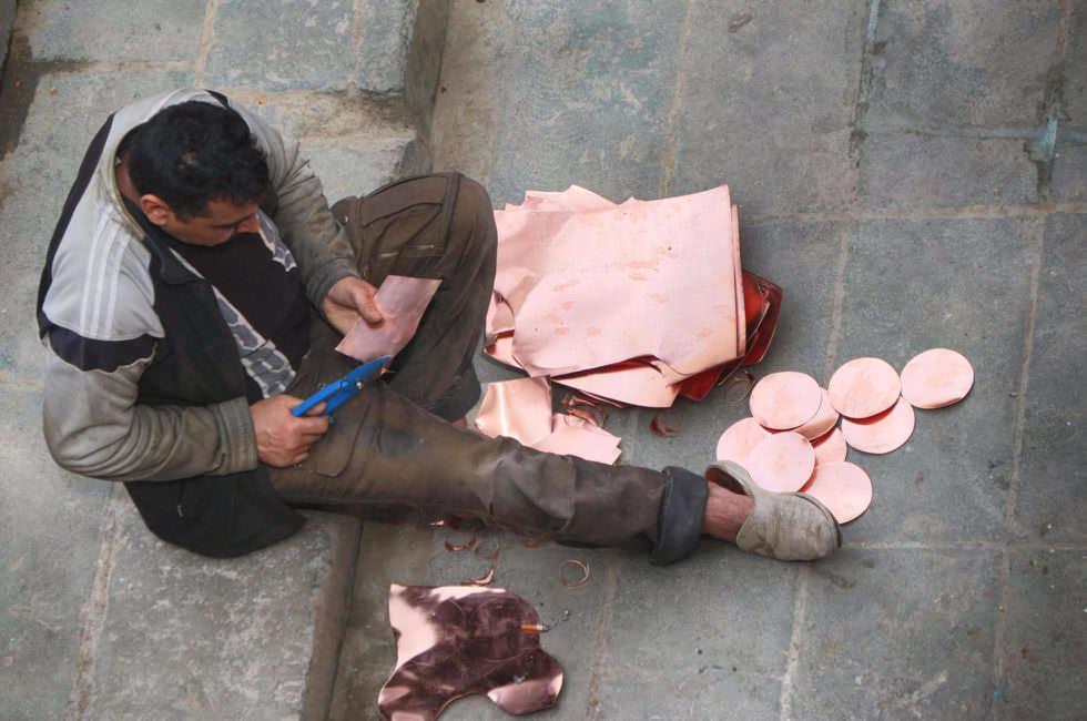 Kupfermacher in der Medina von Fez