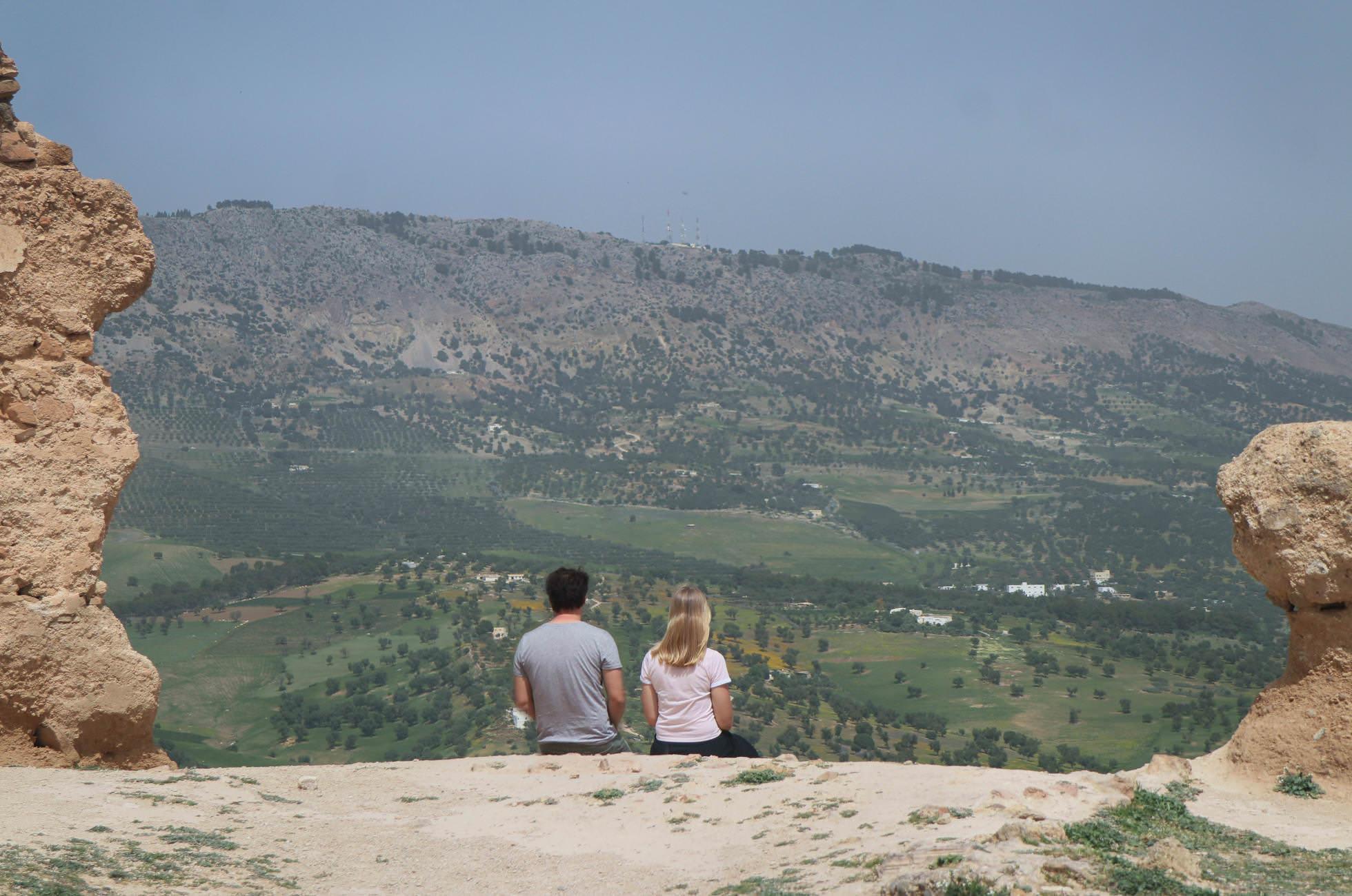 Merinidengräber Ausblick Umland von Fez
