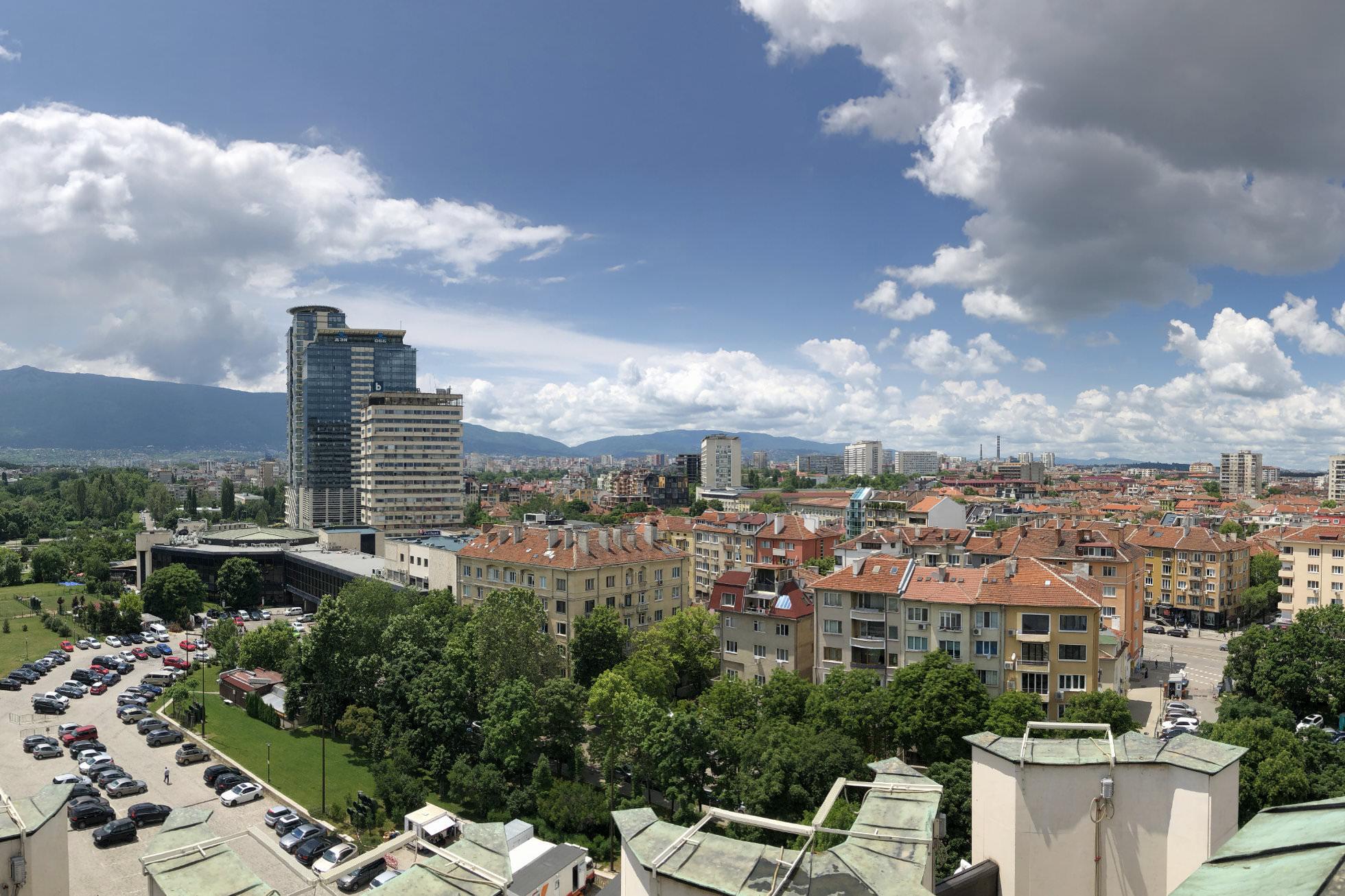 Ausblick von oben in Sofia
